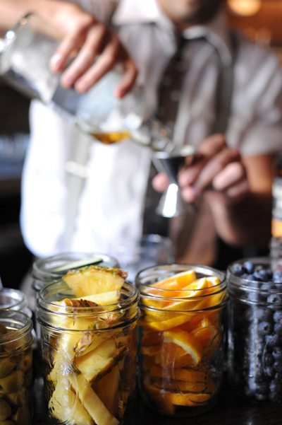 Fresh ingredients for Happy Hour at Epic in San Francisco. (Photo by Liza Gershman Photography)