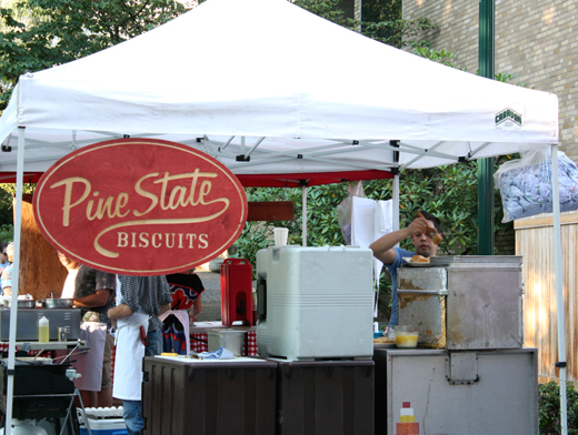 The Pine State Biscuit stand at the farmers market.