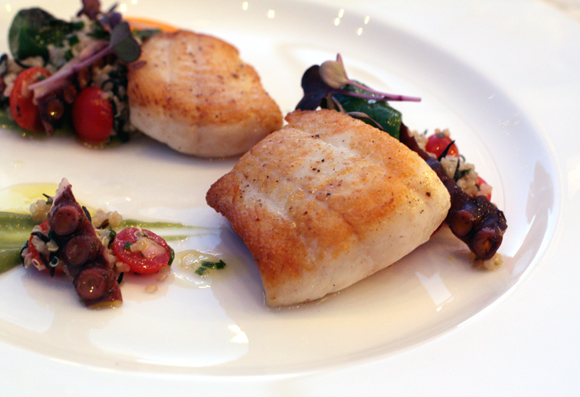 Roasted petrale sole served at a special dinner to commemorate the 30th anniversary of Auberge du Soleil's restaurant.