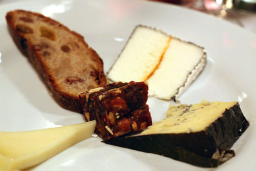 A sampler of Oregon's artisan cheeses.