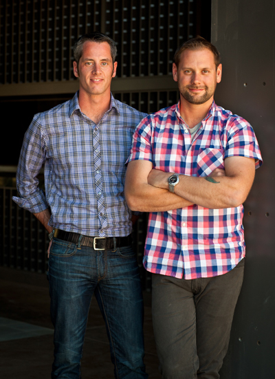 Jason Rose, executive chef, and Marc Hartenfels, hospitality manager, of the new Ram's Gate Winery. (Photo courtesy of the winery)