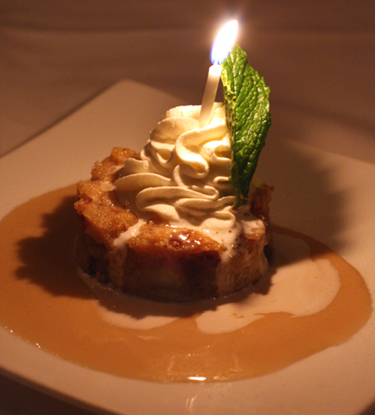 A dessert fit to celebrate a birthday.