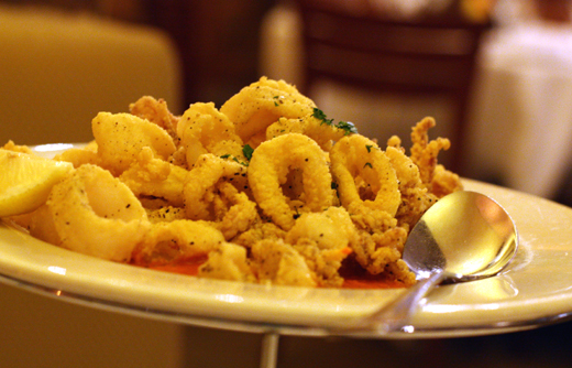 A nice rendition of fried calamari.
