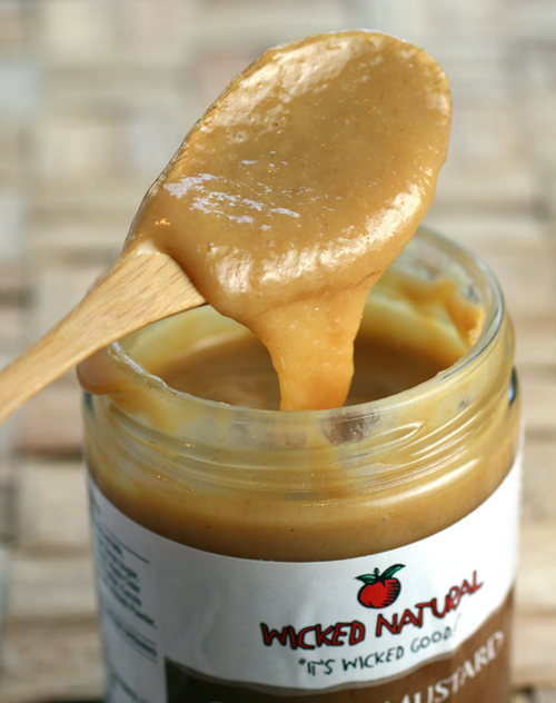 Caramel meets mustard in this great dip/spread.