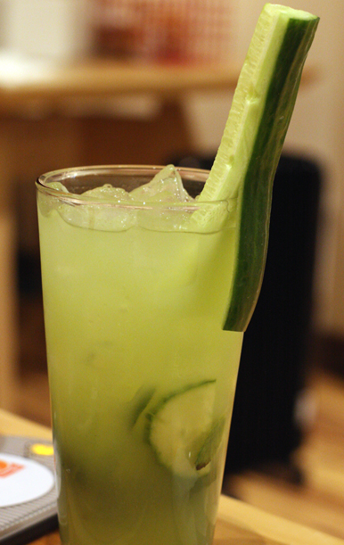 How pretty is this cucumber-mint cooler? And it has only 47 calories.