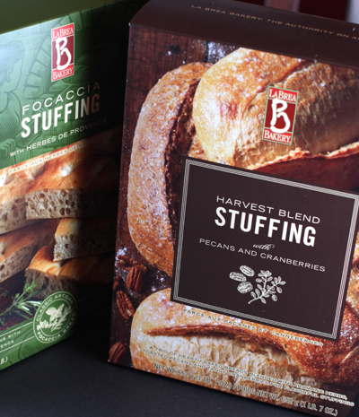 La Brea Bakery's new stuffing mixes.