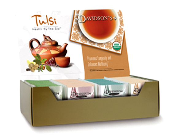 Take a taste of organic Tulsi teas for a blast of herbal deliciousness. (Photo courtesy of Davidson's Organic Teas)