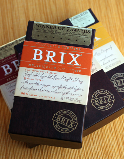 Brix chocolates to expertly pair with wines.