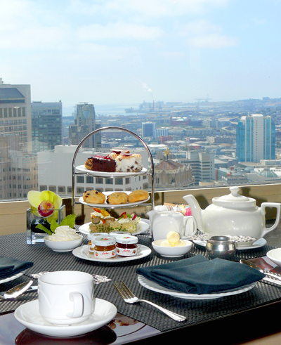 High tea time at the Top of the Mark. (Photo courtesy of the Mark Hopkins Hotel)