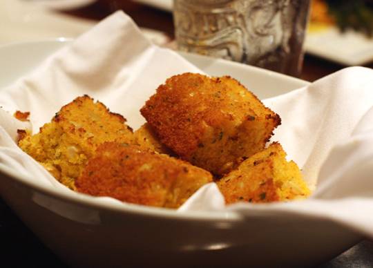 Spicy corn bread.