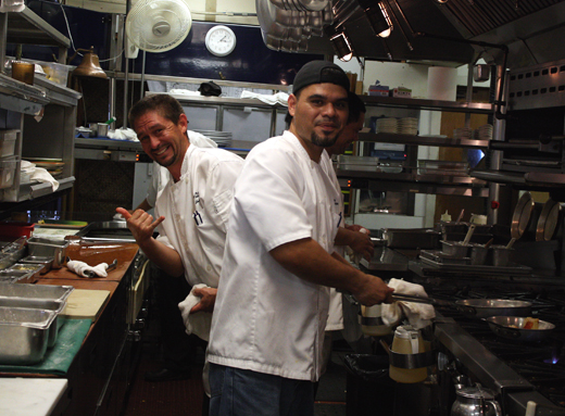 The kitchen crew at Mama's Fish House.