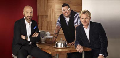 Joe Bastianich, Chef Graham Elliot and Chef Gordon Ramsay of &quot;Masterchef'')