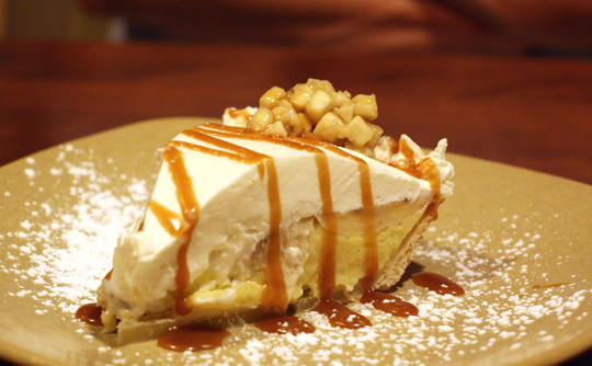 Oh my, oh my -- banana cream pie.