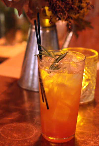 My lovely non-alcoholic Meyer lemon-rosemary shrub.
