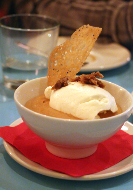 Comfort food like butterscotch pudding highlights the menu at Bottle Cap.