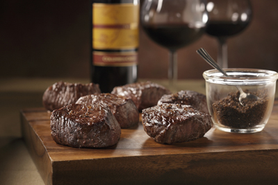 Six Wagyu petit sirloins plus espresso salt for your dining pleasure.