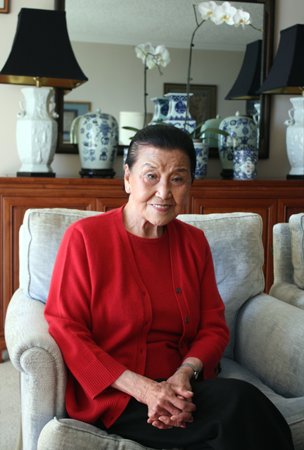 The lovely, pioneering Cecilia Chiang at home in San Francisco.