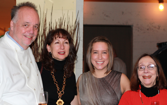 (L to R) Mantuano, his wife Cathy, Alexandra Barton of Spiaggia, and Chef Joyce Goldstein.
