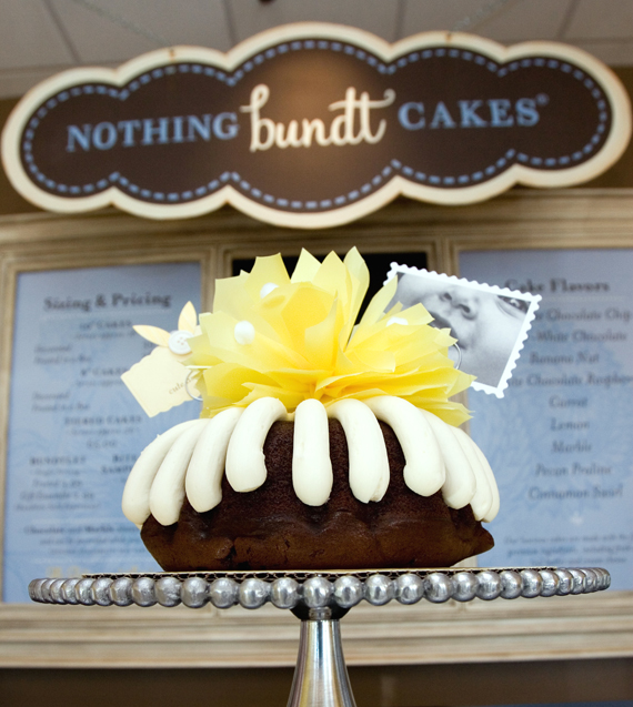 How cute is this cake? (Photo courtesy of Nothing Bundt Cakes)