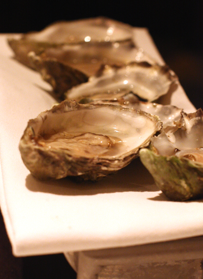 Classic oysters on the half shell.