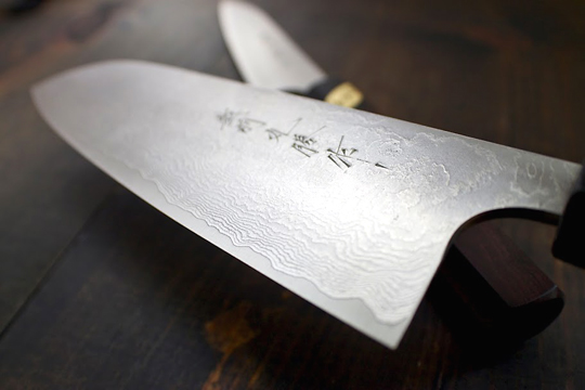 A hand-forged Japanese knife at Bernal Cutlery. (Photo courtesy of the store)