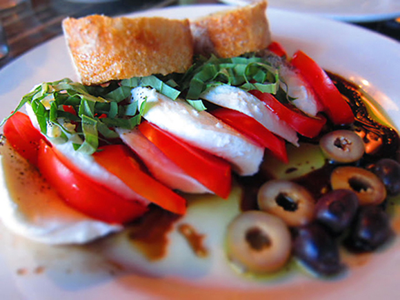 Caprese salad at Blue Line Pizza. (Photo courtesy of the restaurant)
