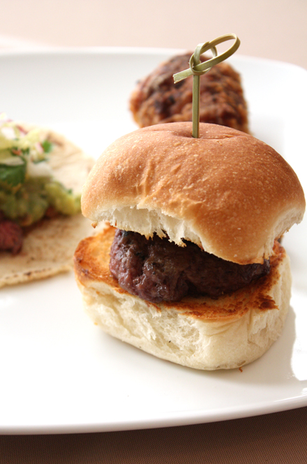 Chef Bradley Ogden's sliders.