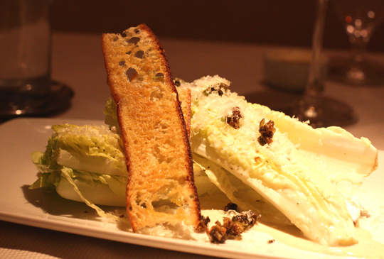 A classic Caesar with marinated white anchovies.
