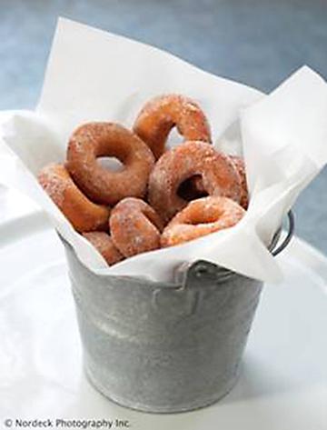 The Carneros Inn's fresh-made cinnamon-sugar donuts. (Photo by Nordeck Photography)