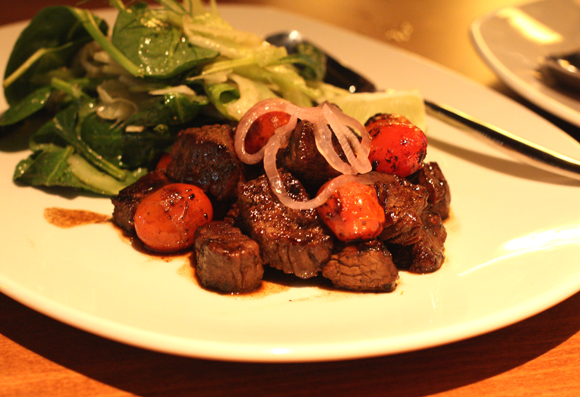 The Vietnamese classic of Shaking beef at the new Oryza Bistro.