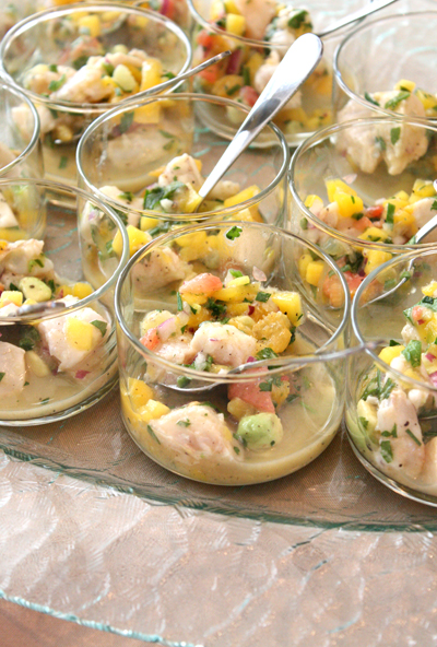 Ceviche in the Yankee Pier-style, one of the restaurants founded by Ogden's Lark Creek Restaurant Group.