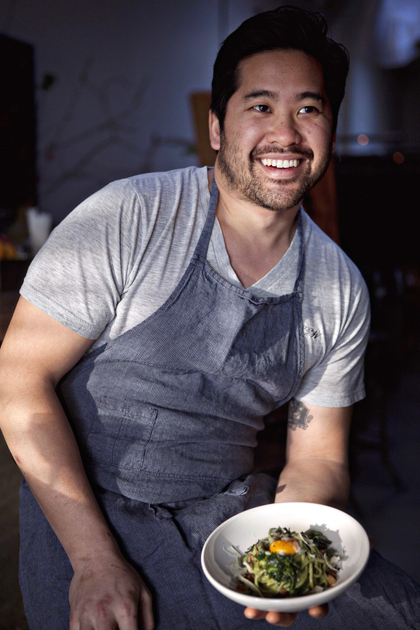 Chef Brandon Jew of Bar Agricole will cook up a storm at the Flower & Garden Show. (Photo courtesy of the chef)