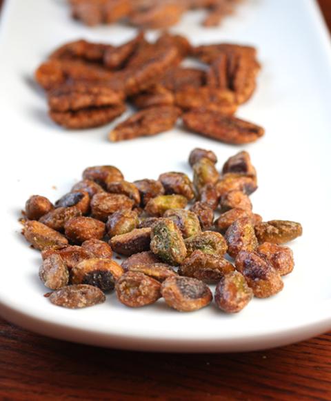 Candied pistachios.