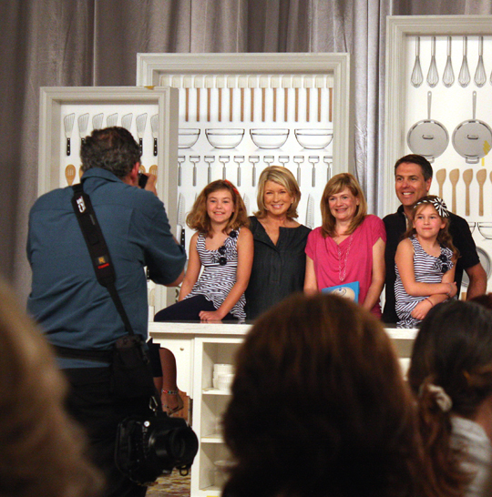 Grand prize winner Christina Verrelli with her family, posing for pics, after the announcement. (Photo by Carolyn Jung)