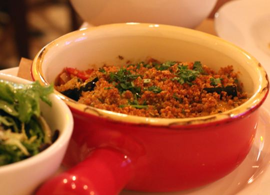 Ratatouille gets a little glam with a crumble topping.