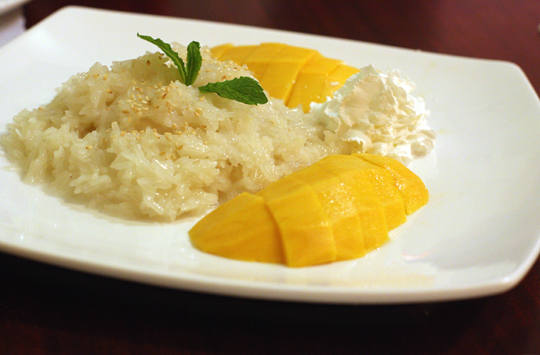A touch of salt in this sweet rice dessert makes it extra special.