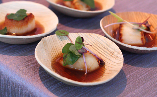 Parallel 37's scallop in dashi.