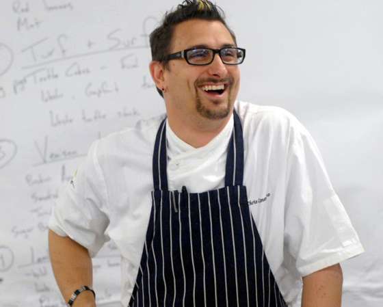 Chef Chris Cosentino on Tuesday in Palo Alto. (Photo by Michael Harlan Turkell)