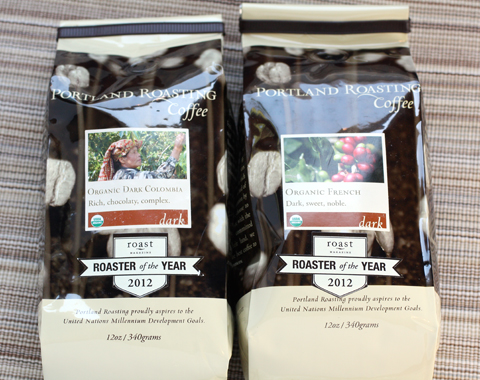Just two of the organic coffee varieties you can win.