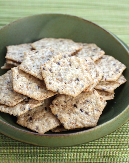 Gluten-Free Multi-Seed Crackers to crunch the time away with.