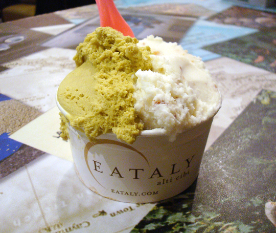 Capping the night off with gelato.