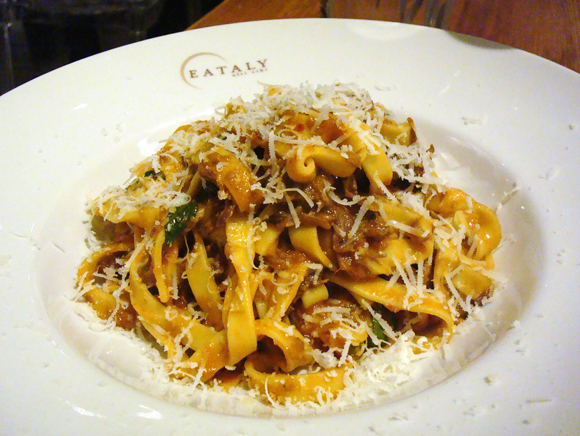 Eating my way through New York, including this pasta at Eataly.