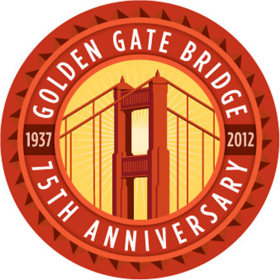 Golden Gate Bridge Anniversary Cuvee medallion. (Image courtesy of Iron Horse)