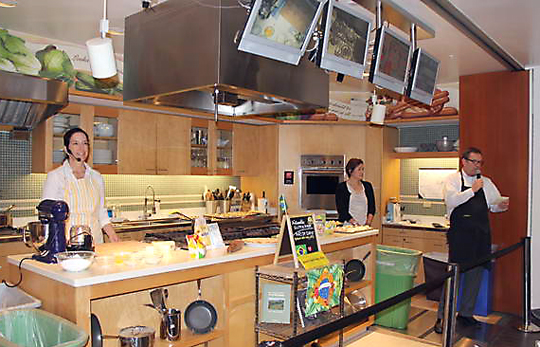 The demo kitchen at Macy's. (Photo by Barry and Eva Jan)