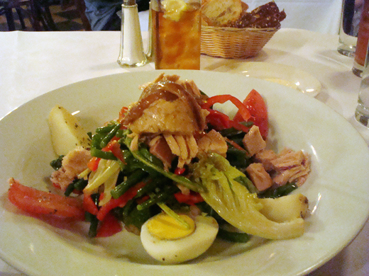 Salad Nicoise at Les Halles.