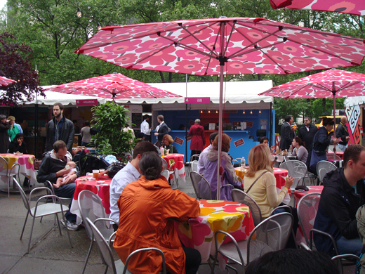 Madison Square Park is the gathering for all manner of food carts.