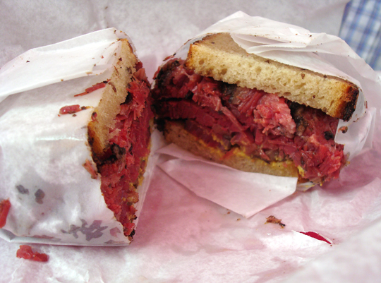 Montreal-style brisket sandwich.