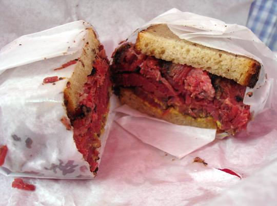 Montreal-style brisket sandwich.