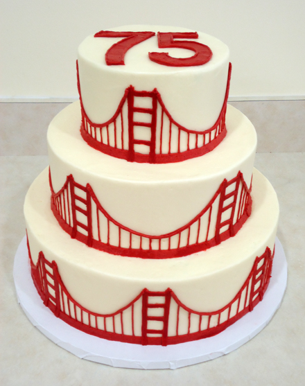 Golden Gate Bridge cake by SusieCakes. (Photo courtesy of the bakery)