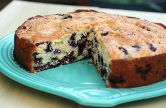 It's like a giant blueberry muffin in cake form.